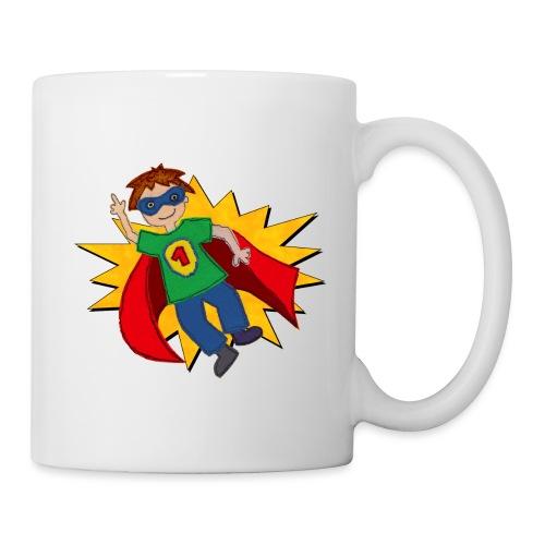 Kaffeebecher mit Superheld   - Tasse