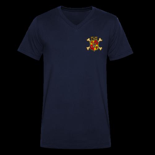 Männer Shirt Wappen Schreckenstein - Männer Bio-T-Shirt mit V-Ausschnitt von Stanley & Stella