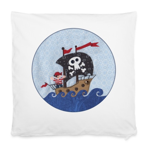 Kissenbezug mit Pirat - Kissenbezug 40 x 40 cm