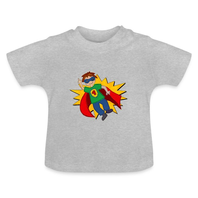 Baby T-Shirt mit Superheld