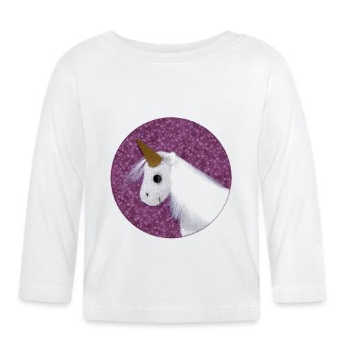 Baby Langarm-Shirt mit Einhorn - Baby Langarmshirt