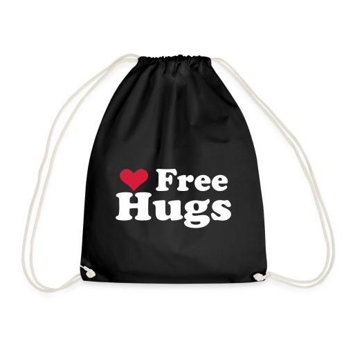 Free Hugs..   Turnbeutel Sprüche - Turnbeutel