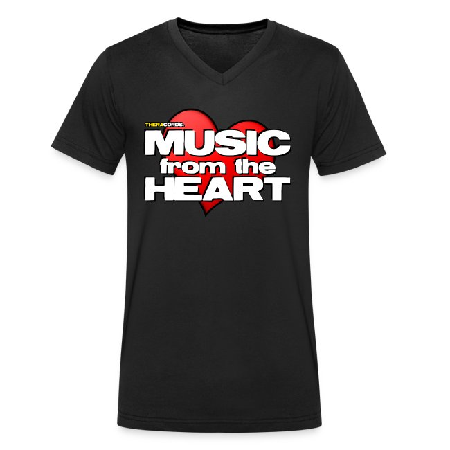 T-shirt V neck Music from the Heart