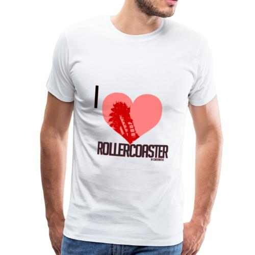 I LOVE ROLLERCOASTER - TeeShirt Premium Homme - T-shirt Premium Homme
