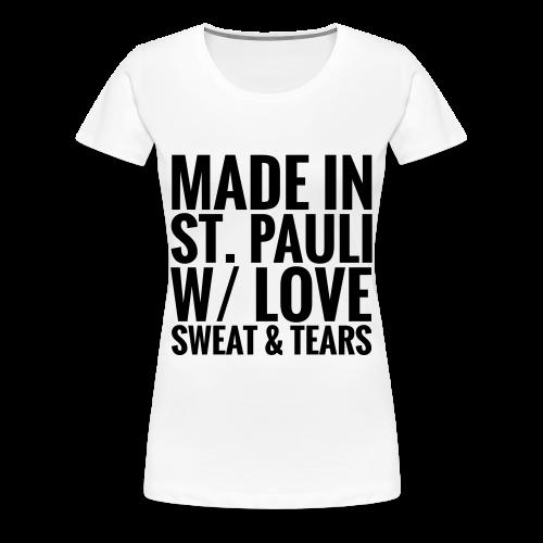 Womens T-Shirt MADE IN ST.PAULI bright - Women's Premium T-Shirt