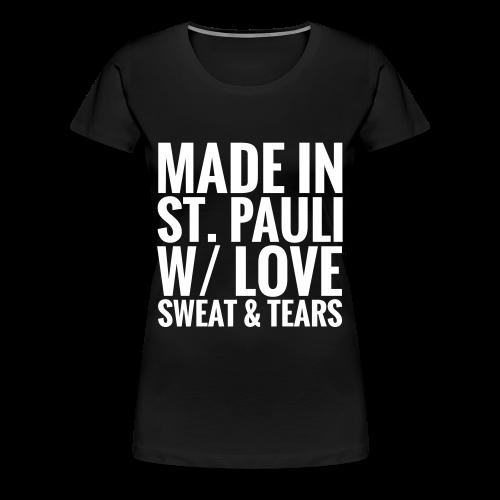 Womens T-Shirt MADE IN ST.PAULI dark - Women's Premium T-Shirt
