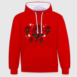 rose design 3 Sweat-shirts - Sweat-shirt contraste