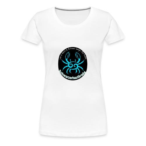 Schwarzerhautkrebs_-Logo T-Shirt, Frauen, weiß - Frauen Premium T-Shirt