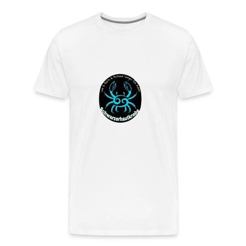 Schwarzerhautkrebs_-Logo T-Shirt, Männer, weiß - Männer Premium T-Shirt