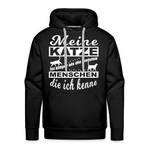 Kluge Katze - Premium Hoodie - Männer Premium Hoodie