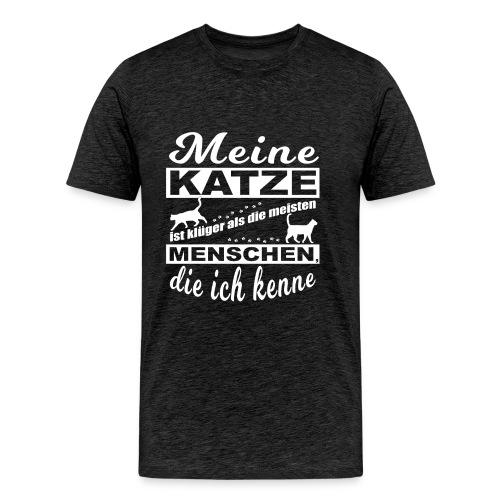 Kluge Katze - Premium T-Shirt Männer - Männer Premium T-Shirt