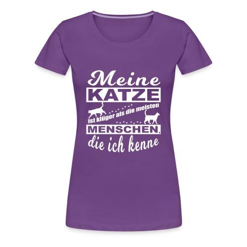 Kluge Katze - Premium T-Shirt Frauen - Frauen Premium T-Shirt