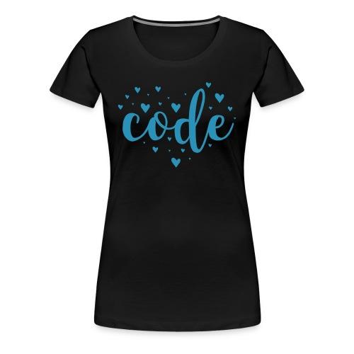 Code Heart - Women's Premium T-Shirt
