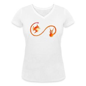 Chat-poisson ! - T-shirt bio col V Stanley & Stella Femme