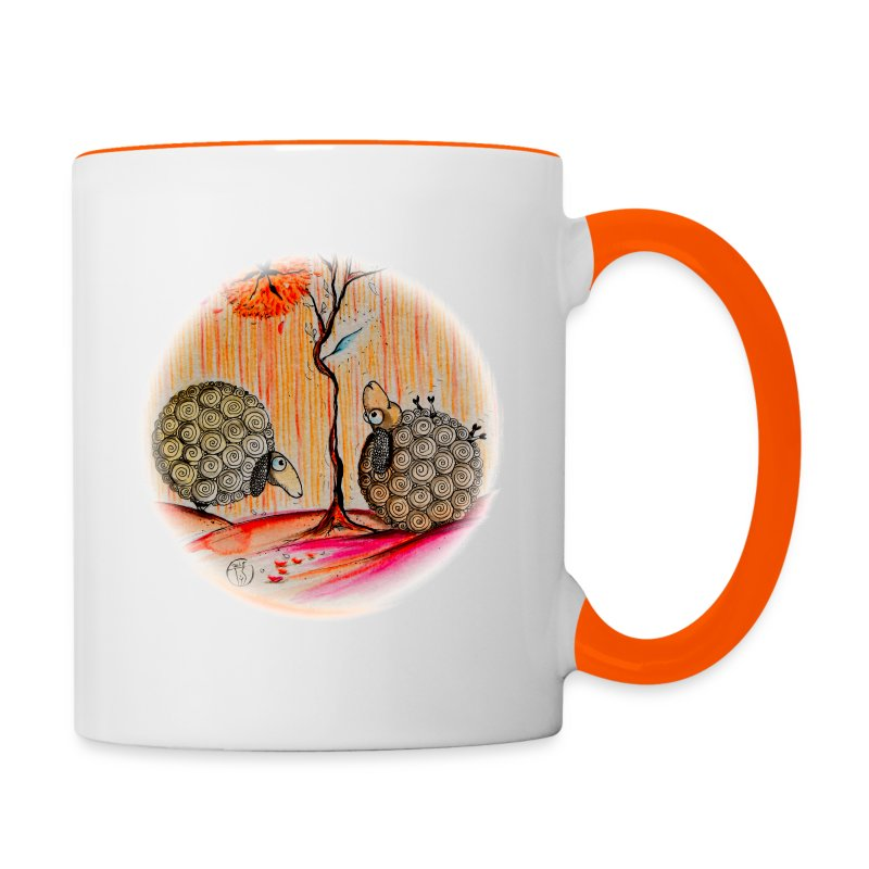 Duo de moutons - Tasse bicolore