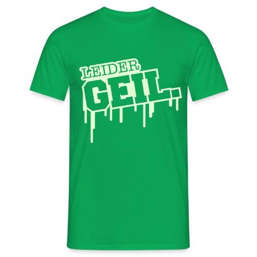 Grünes T-Shirt mit im Dunkeln leutendem Motiv - Männer T-Shirt