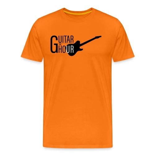 The Guitar Hour Premium T-Shirt - Black Logo in Multiple Colours - Men's Premium T-Shirt
