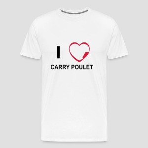 T-shirt Premium Homme I love carry poulet - T-shirt Premium Homme