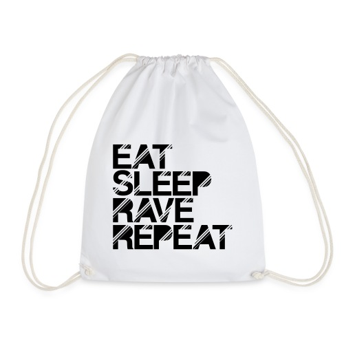 Eat sleep Rave repeat Turnbeutel - Turnbeutel
