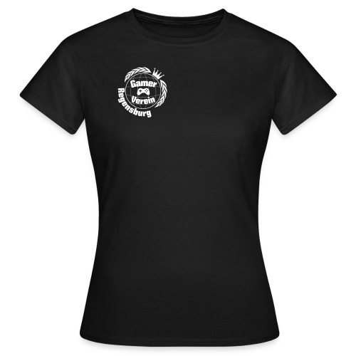 Gamer Verein T-Shirt Schwarz Female - Frauen T-Shirt