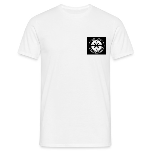 White Money £ Motivated Men T-Shirt - Men's T-Shirt
