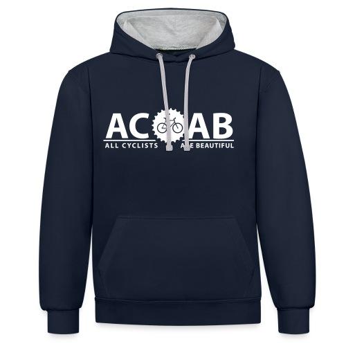 ACAB Pulli Print White | Unisex - Kontrast-Hoodie