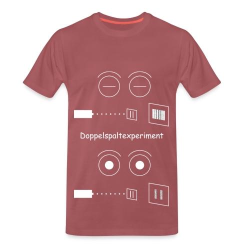 Doppelspaltexperiment weiß T-Shirt Männer - Männer Premium T-Shirt