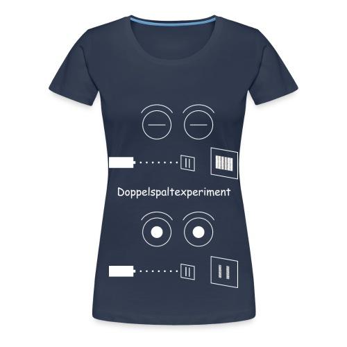 Doppelspaltexperiment weiß T-Shirt Frauen - Frauen Premium T-Shirt