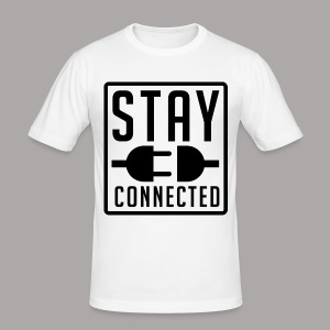 STAY CONNECTED / T-SHIRT SLIMFIT MEN #1 - slim fit T-shirt