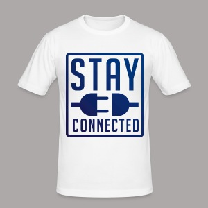 STAY CONNECTED / T-SHIRT SLIMFIT MEN #2 - slim fit T-shirt