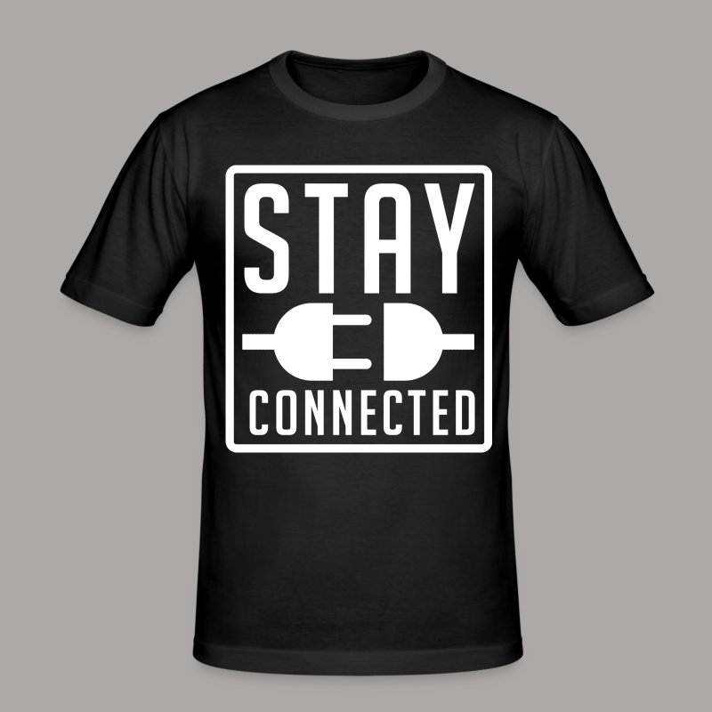 STAY CONNECTED / T-SHIRT MEN #3 - slim fit T-shirt
