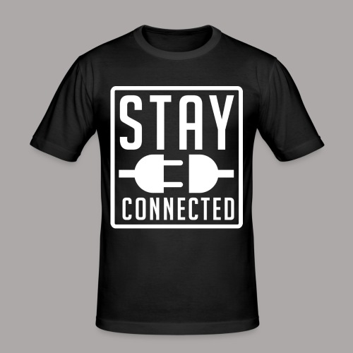 STAY CONNECTED / T-SHIRT SLIMFIT MEN #3 - slim fit T-shirt