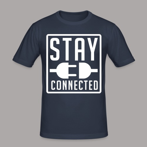 STAY CONNECTED / T-SHIRT MEN #4 - slim fit T-shirt