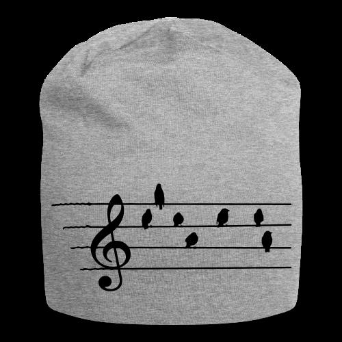 Musik T-Shirt  - Notenschlüssel - Vögel als Note - Jersey-Beanie