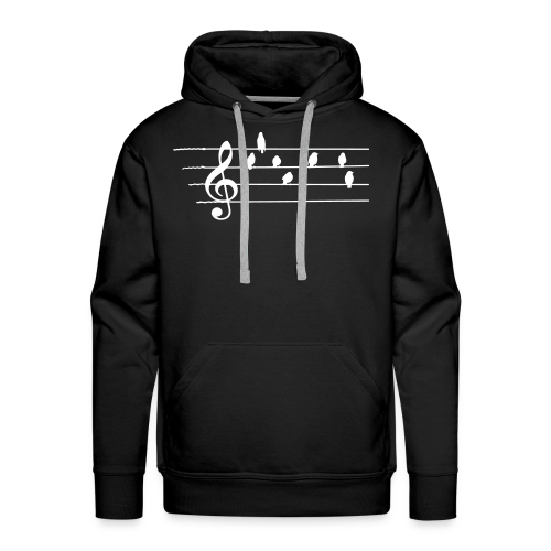Musik T-Shirt  - Notenschlüssel - Vögel als Note - Männer Premium Hoodie