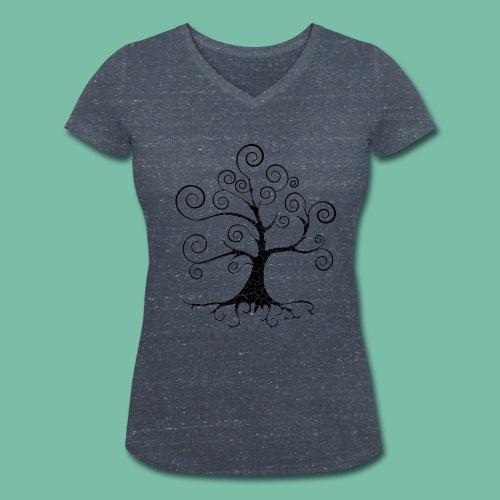 Tee shirt coton bio  Femme Arbre de vie harmonie Brocéliande Spirit - T-shirt bio col V Stanley & Stella Femme