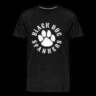 T-Shirts ~ Men's Premium T-Shirt ~ Black Dog Spankers - white print