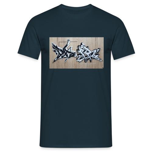 Daiar Wood Black and White - Männer T-Shirt