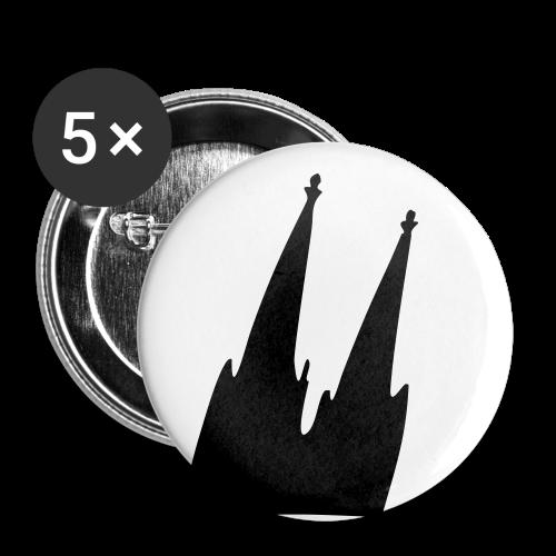 Kölner Dom (Schräg) Anstecker - Buttons groß 56 mm