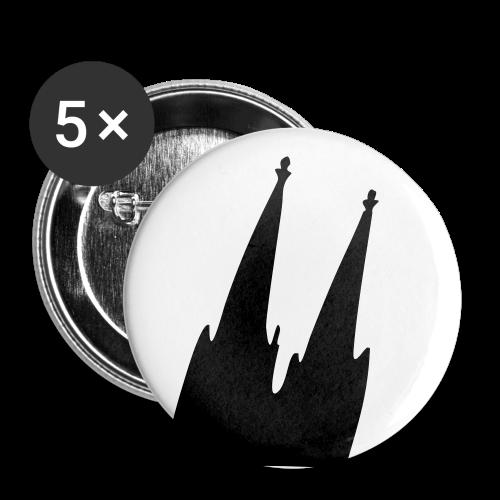 Kölner Dom (Schräg) Anstecker - Buttons mittel 32 mm