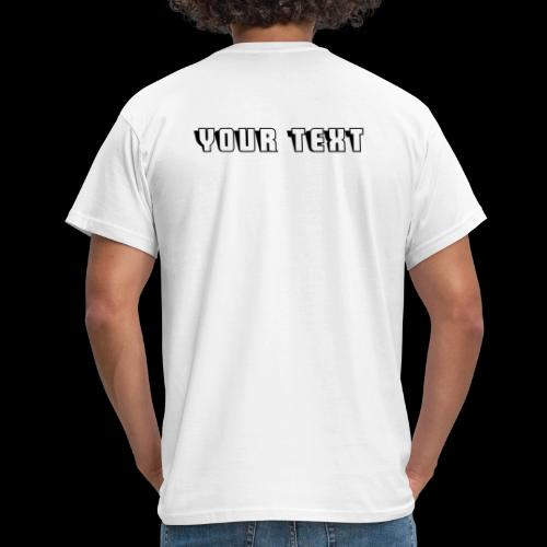 CUSTOM VMR LOGO Tshirt With Your Text on Rear - Men's T-Shirt