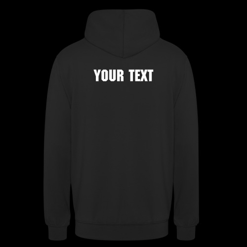 CUSTOM VMR LOGO Hoody With Your Text on Rear - Unisex Hoodie