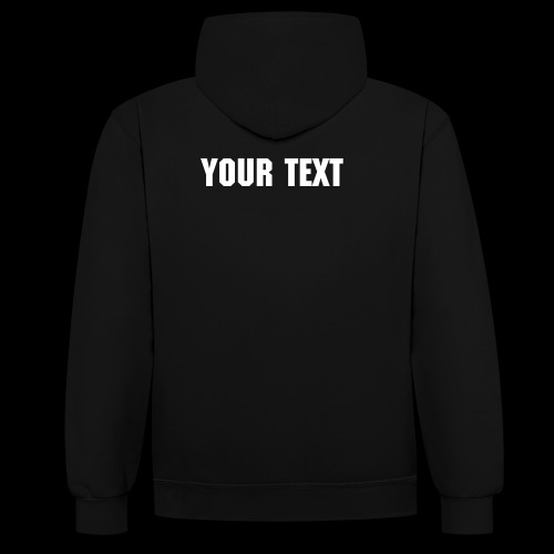 CUSTOM VMR LOGO Contrast Hoody With Your Text on Rear - Contrast Colour Hoodie