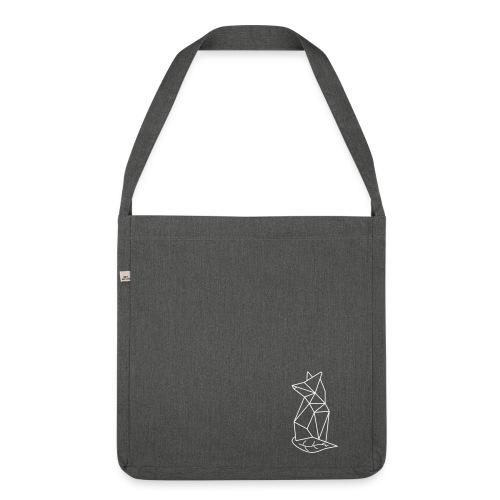 Recycling-Tasche grünfux (Pflaume) - Schultertasche aus Recycling-Material