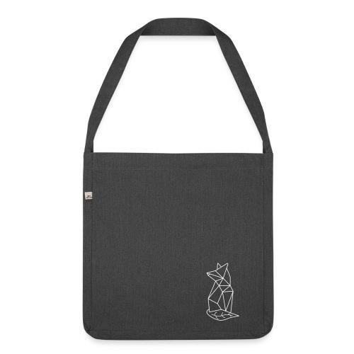 Recycling-Tasche grünfux (Schwarz) - Schultertasche aus Recycling-Material