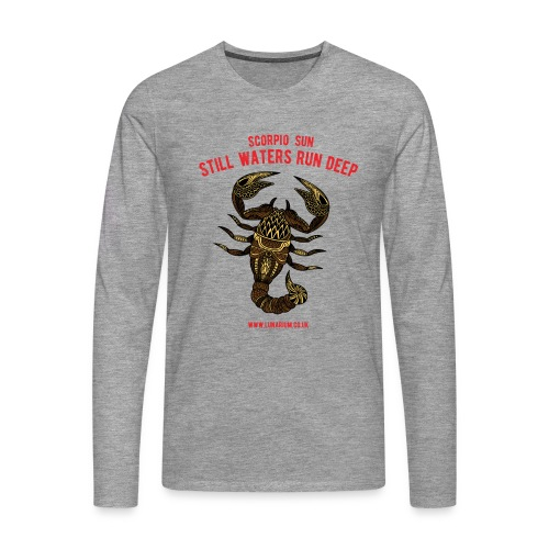 Scorpio Sun Men's Premium Long-sleeve T-Shirt - Men's Premium Longsleeve Shirt