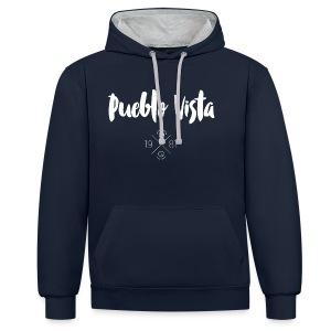 Hoodie // Pueblo Vista // Logo 19X81 - Kontrast-Hoodie