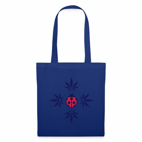 sac bleu coccinelle cannabis  - Tote Bag