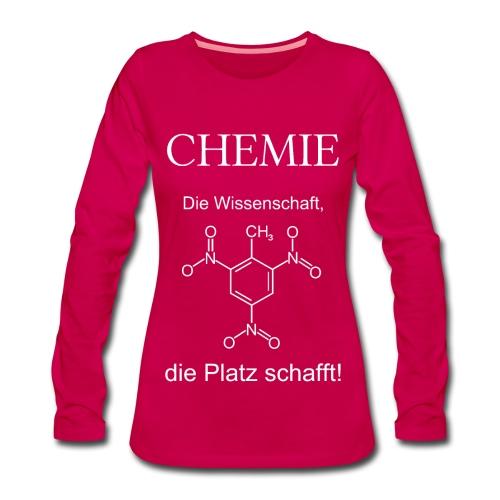 Chemie TNT weiß Langarmshirt Frauen - Frauen Premium Langarmshirt