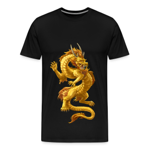 Fightwithstyle Berlin Chinese Dragon Gold 2016 - Männer Premium T-Shirt
